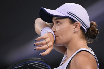 Ash Barty barely raised a sweat in her 6-3, 6-4 win over Shelby Rogers.