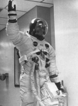 """Neil Armstrong has been called America's """"most bashful Galahad""""."""