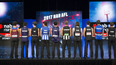 The AFL draft will feature live trading this year - but the dress rehearsal did not go according to plan.