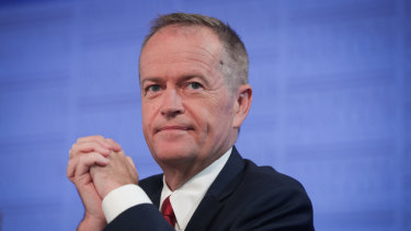 Opposition Leader Bill Shorten addressing the National Press Club of Australia in January, when he announced Labor would establish a national anti-corruption watchdog.