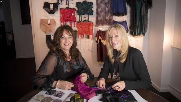 Helen Anderson ( left ) and Lara Brockhurst are selling to top global stores.
