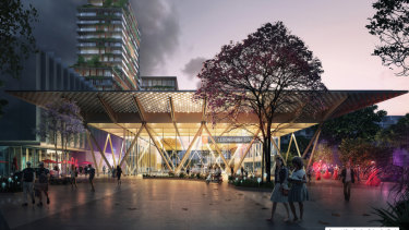 New Cross River Rail design images. The  track is set to run under the upgraded Woolloongabba station.
