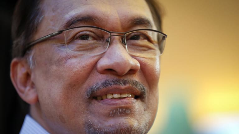 Anwar Ibrahim in 2014, before his second stint in jail.