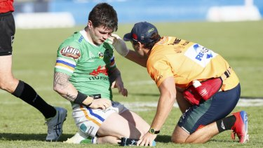 Man down: In-form Raider John Bateman is back for the Raiders.