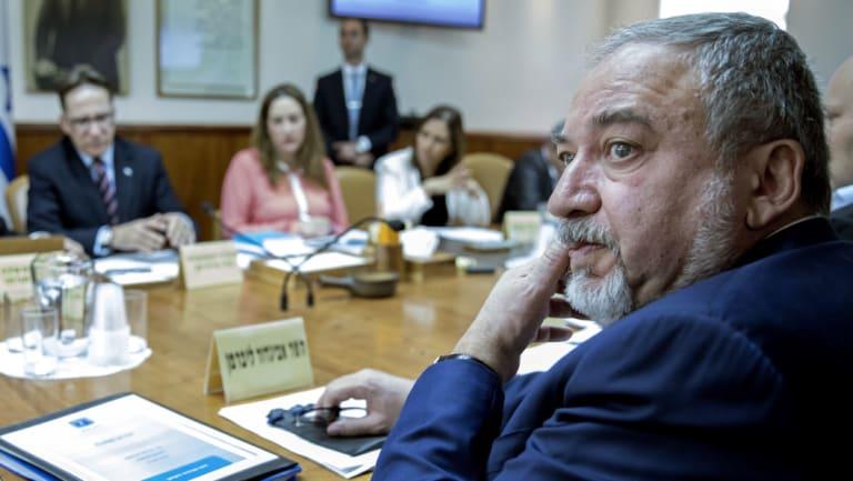 Israeli Minister of Defence Avigdor Lieberman