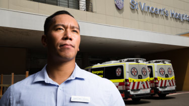 Emmanuel Vinoya spends three hours a day commuting to and from his job at St Vincents Hospital.