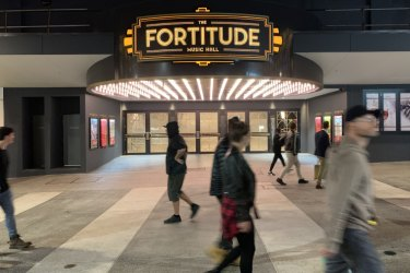 The Fortitude Music Hall one week before its official opening.