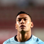 Israel Folau of the Waratahs looks on prior to the Round 12 Super Rugby match between the NSW Waratahs and the Blues at Brookvale Oval in Sydney on Saturday, May 5, 2018. (AAP Image/Jeremy Ng) NO ARCHIVING, EDITORIAL USE ONLY