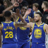Warriors beat Blazers for 3-0 western conference finals lead