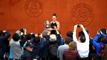 Ashleigh Barty is back on clay after a long layoff following her French Open win in 2019.