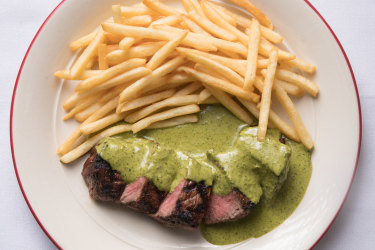 Steak frites at Entrecote.