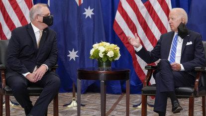 'We're in lockstep': Biden hails Australia at meeting with Morrison