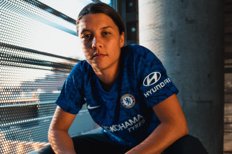 Sam Kerr signed a two-and-a-half season deal with Chelsea late last year.