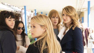 The original cast returns for series two of Big Little Lies. From left, Shailene Woodley, Zoe Kravitz, Reese Witherspoon, Nicole Kidman and Laura Dern.