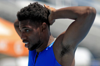 Noah Lyles after running '200 metres' in Florida during the Inspiration Games virtual meet.
