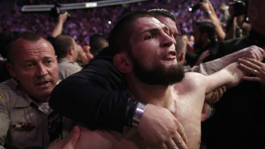 All hell broke loose after the fight between Nurmagomedov and McGregor.