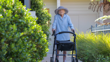 Daphne Keith after her partial hip replacement earlier this year.