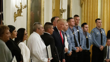 The ceremony at the White House on Monday.
