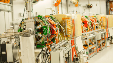 The electron beam produced by the Synchrotron travels through these tunnels at close to the speed of light.