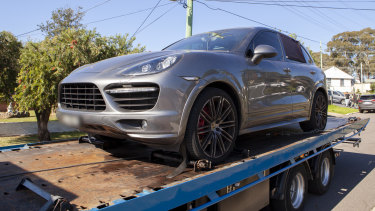 A Porsche Cayenne seized as proceeds of crime.