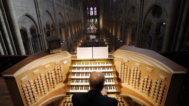 The organ at Notre Dame survived, although it's not clear if the pipes suffered smoke damage.