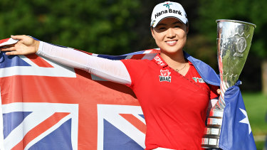 Minjee Lee won her first major tournament just before the Olympics.