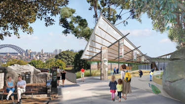 An artist's impression of the multimillion-dollar wildlife hospital set to open at Taronga Zoo in 2024.
