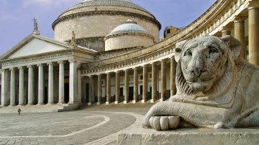 The Church San Francesco di Paola in Naples, Italy.