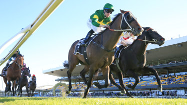 Tommy Berry pilots Ole Kirk wins the Golden Rose.