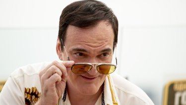 Quentin Tarantino at the film's premiere in Moscow this week.