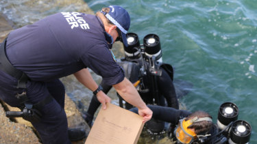 Police divers found items of interest at the bottom of Sydney Harbour on Wednesday.