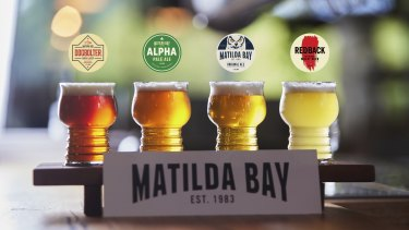 Four of the original brews from Matilda Bay including Redback, which is back on tap in WA.