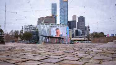 """CEO Xavier Csar says Fed Square is """"eerie"""" during the pandemic."""