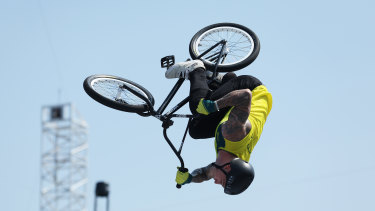 Australian Logan Martin takes gold in the BMX debut at the Tokyo Olympics.