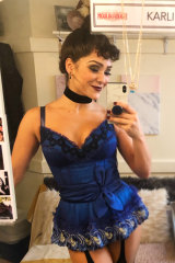 "Karli Dinardo in her Broadway dressing room:  ""Being a swing, you ... know every piece of the jigsaw puzzle.″⁣"