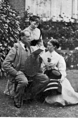 Charles Dickens with his daughters Mamie and Katie, at their home Gad's Hill. Mamie said Christmas was her father's favourite time.