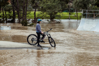 Traralgon faced rising waters again on Saturday.