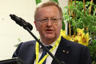 John Coates is stepping down as AOC president but remaining as honorary life president.