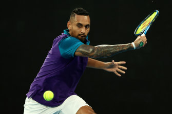 Nick Kyrgios is due to face third seed Dominic Thiem on Friday night.