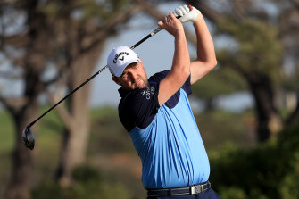 Marc Leishman is in a good position at four-under.