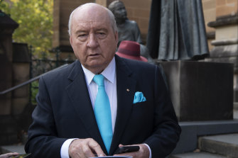 """Alan Jones has been making the most of the hospital's """"presidential suite""""."""
