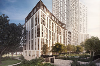 Mirvac's first build-to-rent property in Sydney Olympic Park.