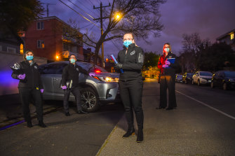 L-R Detective Senior Constable Nataliya Kuligina, Detective Senior Constable Jarrod Cox, First Constable Nicole Price and Detective Senior Constable Louise Rogers.