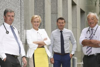 Doctors in the House of Representatives: David Gillespie, Katie Allen, Andrew Laming and Mike Freelander.