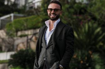Gavin Rubinstein, star of reality series Luxe Listings, in Sydney's Vaucluse on Thursday.