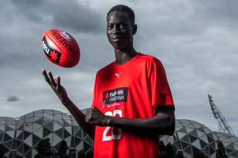 Mac Andrew has been inspired by AFL players such as Majak Daw, Mabior Chol and Changkuoth Jiang.