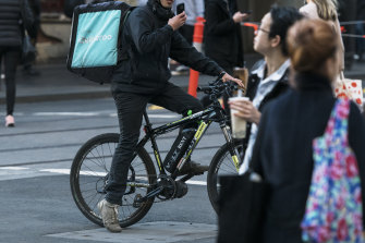 Food delivery riders can use multiple phones to get more jobs.