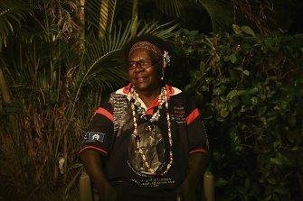 Betty Mabo, the daughter of Eddie 'Koiki' Mabo, on Thursday Island in the Torres Strait on Mabo Day.