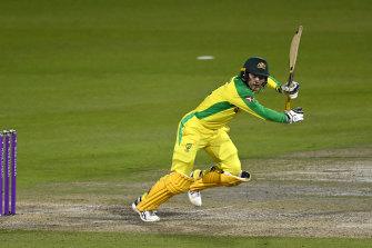 Alex Carey was Australia's best batsman in the one-day series victory.