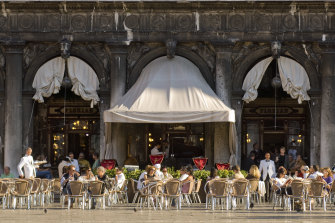 Venice's Caffe Florian has been trading for 300 years.